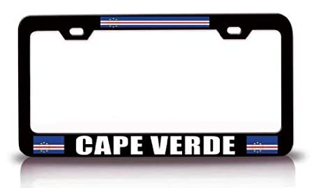 Novelty Car Tag Frame 2 Holes with Screws Custom Auto Frames Black License Plate Frame Aluminum Metal Decorative Flag License Plate Cover Holder