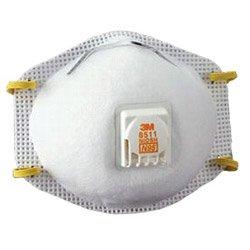 3M 8511   Particulate Respirator, N95, 10 Per Box, Plastic, 1'' x 1'' x 1''