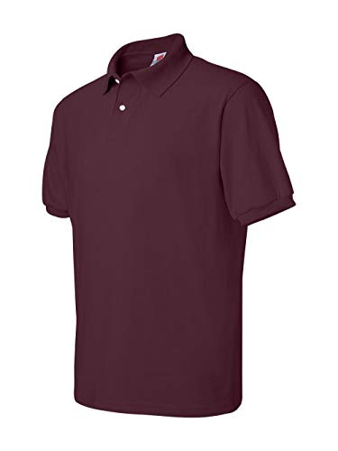 (Hanes Men's Cotton-Blend EcoSmart® Jersey Polo)