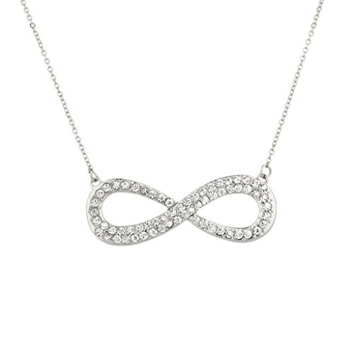 Crystal Infinity & Beyond Pendant Necklace. (Pave And Crystal Necklace)