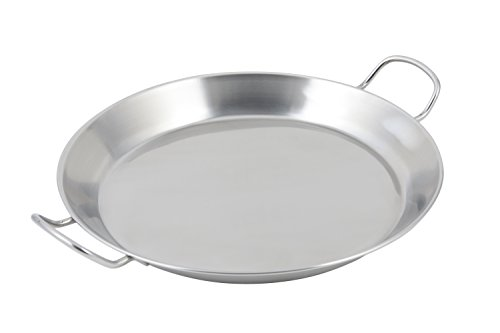 Bon Chef 61249 Stainless Steel Paella Induction Bottom Spanish Tray, 14-51/64'' Diameter by Bon Chef
