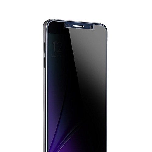 LITUO Galaxy Note 5 Privacy Anti-Spy Tempered Glass Full Screen Protector Ballistics 0.3mm 9H Hardness Anti shatter Anti Scratch Fingerprint, Bubble Free Black as Mirror for Samsung Galaxy Note 5