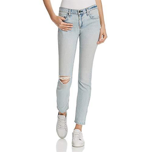 (Rag & Bone Womens DRE Denim Light Wash Straight Leg Jeans Blue 28)