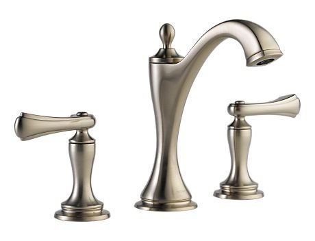 Brizo 65385LF-BNLHP Charlotte Two Handle Widespread Lavatory Faucet without Handles, Brilliance Brushed Nickel (Brizo Charlotte Faucet compare prices)