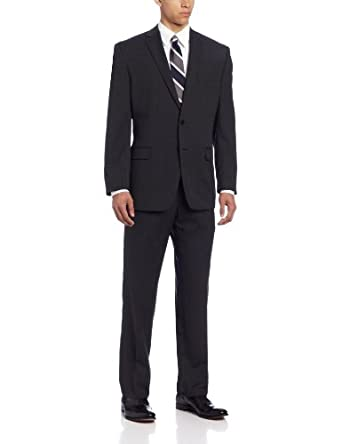 Calvin Klein Men's Malik Suit Pin Stripe, Pin Black, 46 Regular at ...
