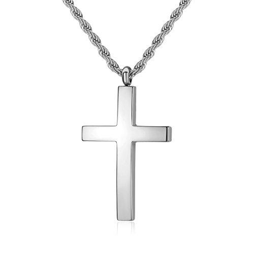 Buy mens silver cross chain