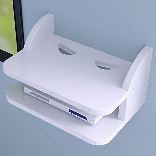 Price comparison product image Floating Shelf Wall Mounted Floating Shelf Router Shelf Set-top Box Supports for PS4 Xbox One TV Box Cable Box Streaming Devices