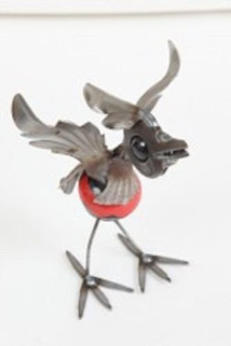 Yardbirds Junkyard Metal Animal Knock Knock Cardinal - (Yardbirds Junkyard Dogs And Cats)