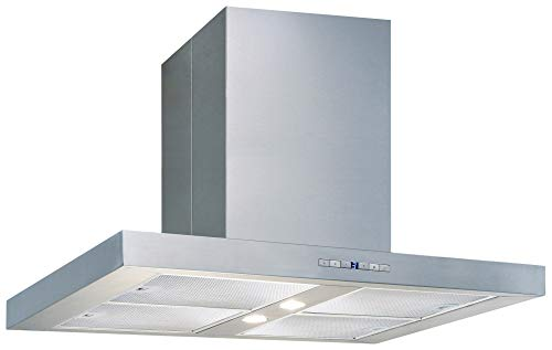 Air King PAMP36SS 600 CFM 36 Inch Wide Island Range Hood with Dual Halogen Lighting and Aluminum Mesh Filters from the Barcelona Series - Lighting Barcelona Series