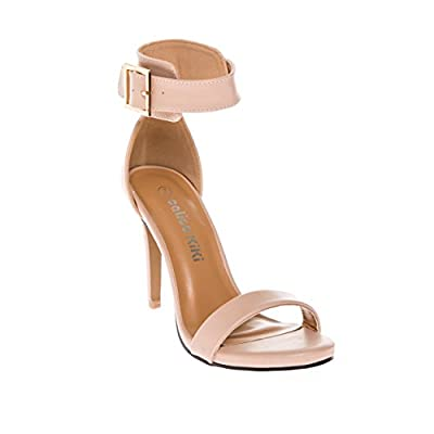 CALICO KIKI Women's Open Toe Ankle Strap Stiletto High Heels Dress Sandal Pumps