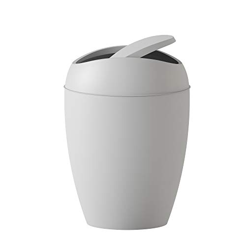 Umbra Twirla, 2.4 Gallon Trash Can with Swing-top Lid, Gray