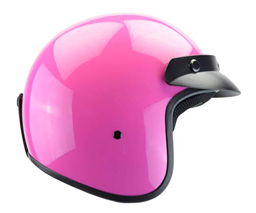 (Vega Helmets Unisex-Child Style CO5 Youth Open Face Helmet (Pink, Small))