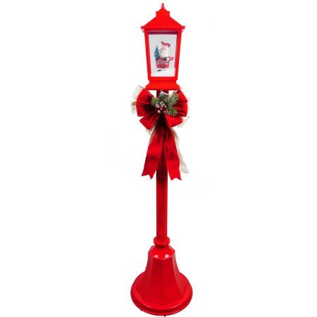 Christmas Lamp Posts With Snow Blowing Scenes Clear Light, Playing Christmas Songs by Holiday Time