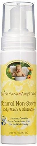 Natural Non-Scents Body Wash & Shampoo, Gentle Castile Soap for Sensitive Skin (5.3 Fl. (Over Foaming Baby Wash)