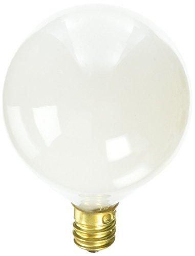 (Bulbrite 15G16WH3 15W G16 Globe 130V Candelabra Light Bulb,)