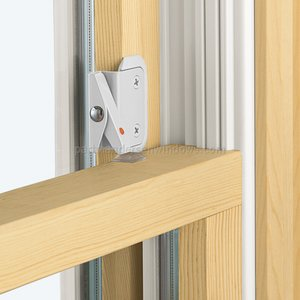 Double-Hung Window Opening Control Device, White Color with Bonus Install (Opening Device)