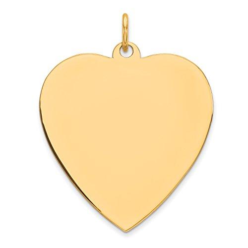 Ice Carats 925 Sterling Silver Gp Engraveable Heart Disc Pendant Charm Necklace Engravable Simple Shaped Plain
