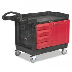 RCP453388BLA-Trademaster-Cart-750-lb-Cap-1-Shelf-26-14w-X-49d-X-38h-Black