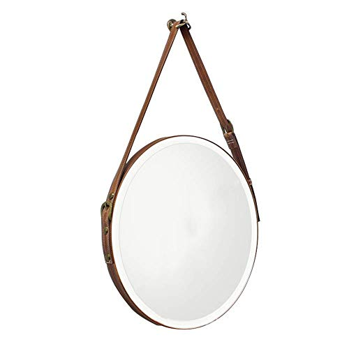 Mirror, Bathroom Bedroom Wall-Mounted Round Beveled Wall Mirrors Belt Frame Vanity Hanging Mirror ()
