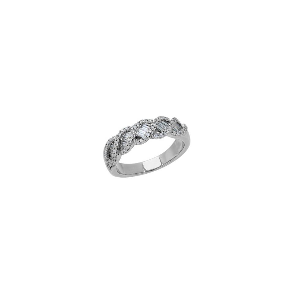0.70 Carat 18kt White Gold Diamond Ring