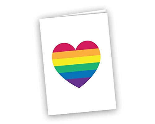 Rainbow Heart Note Cards (12 Cards) - Gay Pride Note Cards
