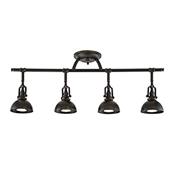 Image of Home and Kitchen Kira Home Broadway 30' 4-Light Industrial Directional Track Light, Bronze Finish