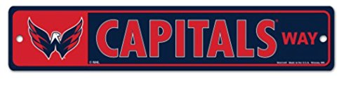 "NHL Washington Capitals 4"" x 19"" Plastic Street Sign by Wincraft"