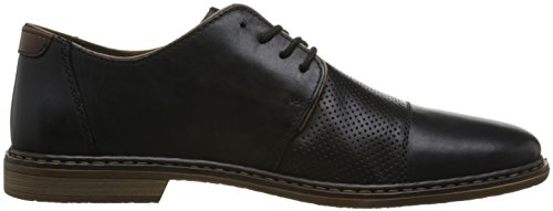 Zapatos 24 Cordones de Derby Leder Schwarz Rieker Hombre Obermaterial para 13428 w1FI5qS