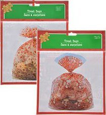 2-Pack Extra Large Christmas Treat Gift Basket Bags (each bag 22 x 25) Designs will vary