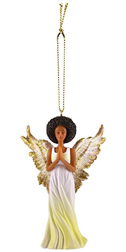 (African American Expressions - Gold Angel Collectible Christmas Ornament ORNA01 )