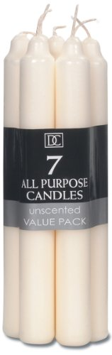 Darice 1150-30 Candle - Ivory - 7 inches - 7 pieces