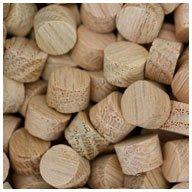 WIDGETCO 3/8'' Oak Wood Plugs, Face Grain