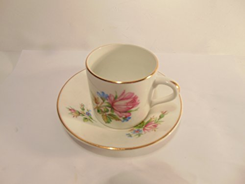 Rosina Bone China Cup (Crownford & Rosina Fine Bone China, Pink Flower Tea cup & saucer)