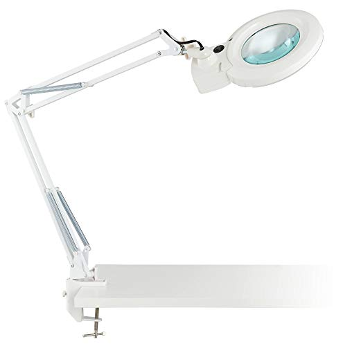 - Clancy White LED Architect 3X/5X Magnifier Desk Lamp - 360 Lighting