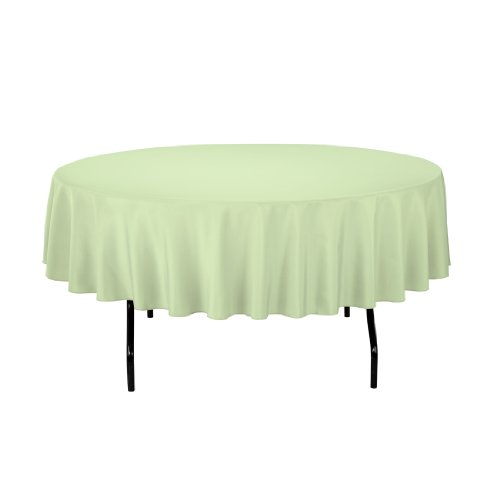 LinenTablecloth Round Polyester Tablecloth, 90-Inch, Reseda