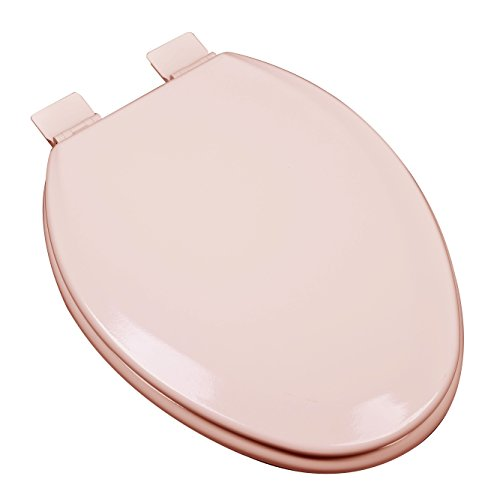- Bath Décor 1F1E5-20 Premium Molded Wood Elongated Toilet Seat with Adjustable Hinge & OSG, Venetian Pink