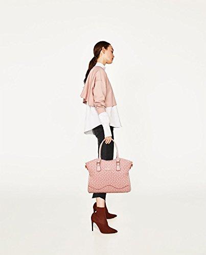 Messenger della 6 di femmina delle retro della grande della Sdinaz borsa Messenger delle di spalla 2018 pacchetto modella signore modello borse messaggero di Rosa osso il di modo insiemi qxTBZwO