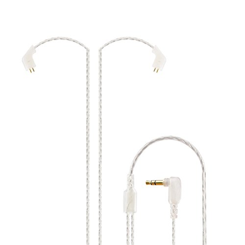 KZ ZST 0.75mm 2 pin Upgrade Silver Plate Replacement Earphones Cable for KZ Earphones (silver)