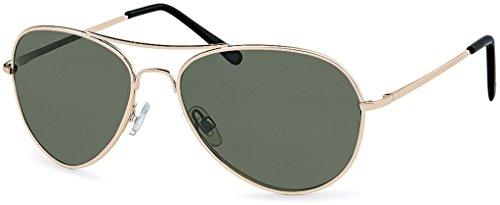 Gafas para Gold Dunkelgrün hombre de Glas sol 70 Hatstar Rahmen U0wdqU
