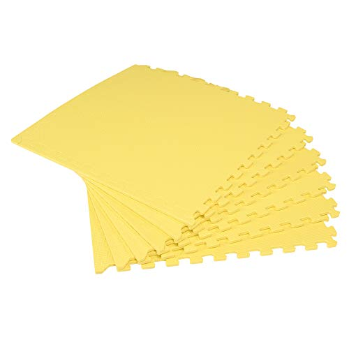 We Sell Mats Interlocking Anti-Fatigue EVA Foam Floor Mat, Yellow