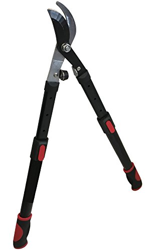 "LavoHome 24-35 Telescoping Bypass Lopping Shears Tree Branch Trimmer Landscaping Shears Tree Branch Trimmer Pruner Ratchet Lopping Shears Expanding Aluminum Handle 24""- 36"""