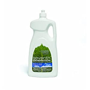 Seventh Generation Liquid Dish Detergent, Free & Clear, 48-Ounce Bottles (Case of 6)