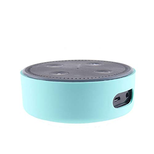 Weite Silicone Protective Case Cover Compatible with Echo Dot 2, Soft Shock-Proof Protector for Amazon Echo Dot 2nd Generation (Blue)