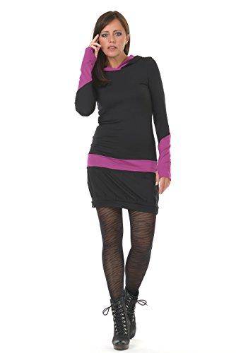 cappuccio Gotico donna abito Rosa casual con 3Elfen qpBP7tq