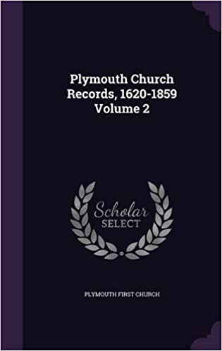 Book Plymouth Church Records, 1620-1859 Volume 2