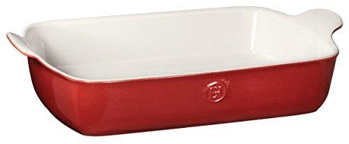 (Emile Henry 369629 HR Ceramic Individual rectangular baker, Rouge)