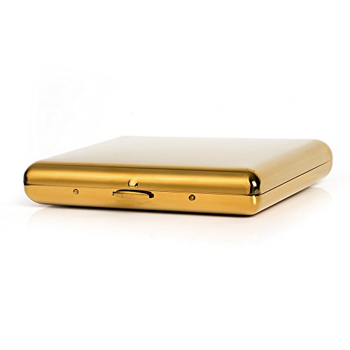 Holder 100's Gold Box Cigarette Silver 20 Copper Cigarettes for Holds Metal Case cigarettes Pure Cardcase wTqI1Pg