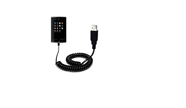 Uses Gomadic TipExchange Technology Coiled Power Hot Sync USB Cable for the Coby KYROS MID7034 MID7035 MID7036 with both data and charge features