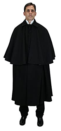 Men's Steampunk Clothing, Costumes, Fashion 100% Wool Inverness Dress Cloak $223.95 AT vintagedancer.com