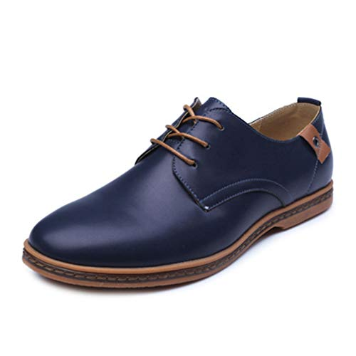 Phil Betty Mens Oxford Shoes Fashion Flats Round Toe Comfortable Office Dress Shoes by Phil Betty